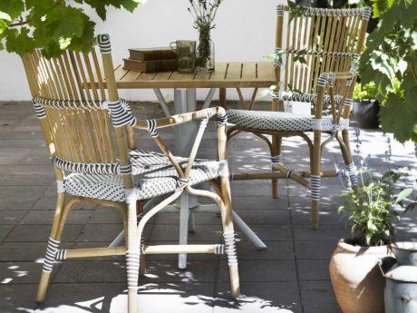 Sika-Design Affaire Gartenset Teakbistrotisch 70x70 cm mit Stuhl Monique