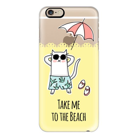 iPhone 6 Plus/6/5/5s/5c Case - Summer Cat - Take Me to the Beach -... (580 ARS) ❤ liked on Polyvore featuring accessories, tech accessories, iphone case, cat iphone case, iphone cover case, apple iphone cases and slim iphone case