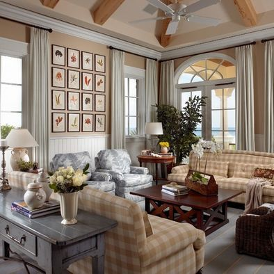 Traditional family room french country living room design for Country french decorating ideas living room