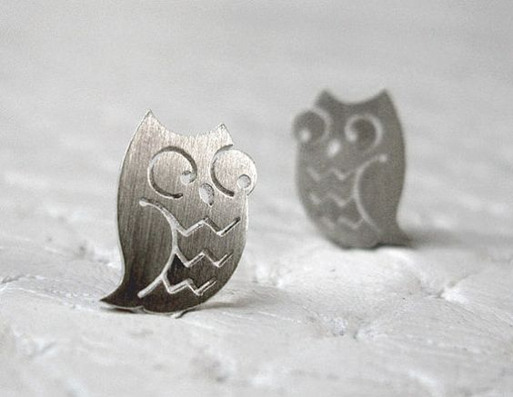 Owl Earrings - Owl Jewelry in sterling silver - Handmade Cute Earrings on Etsy, €18.97