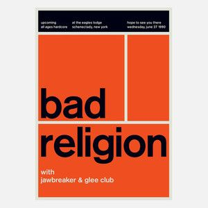 Bad Religion, 1990 17x23.75 now featured on Fab.