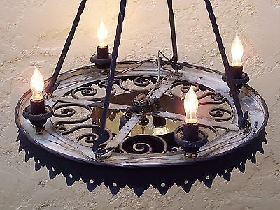 Spanish revival chandelier spanish colonial revival style pair wrought iron chandeliers vintage spanish colonial mission monterey large aloadofball Images