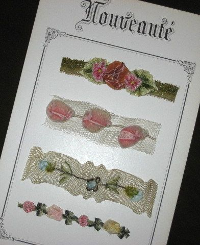 Fabulous Antique French Samples of French Ribbon Art, New on Etsy
