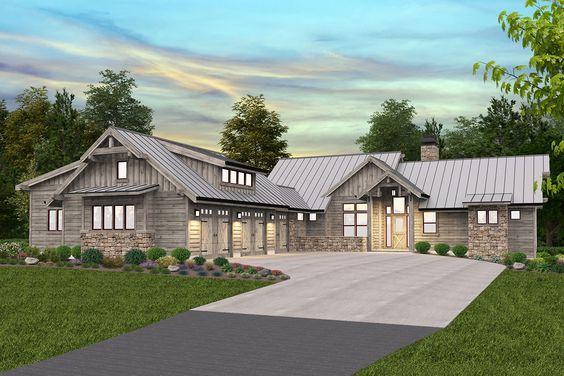 Plan 85303ms Mountain Craftsman Home Plan With Garage Workshop In 2021 Craftsman House Plans Craftsman House Modern Lodge