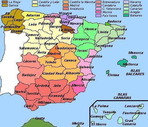 Mapa Politico De Toledo.Mapa Politico De Espana Buscar Con Google Mapa Politico Andalucia Pais Vasco