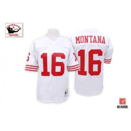 Nike Mitchell and Ness San Francisco 49ers http://#16 Joe Montana White Authentic NFL Jersey$109.99