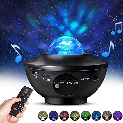 Night Light Projector With Remote Control Eicaus 2 In 1 Star Projector With Led Nebula Cloud Moving Ocea In 2020 Night Light Projector Star Projector Best Night Light