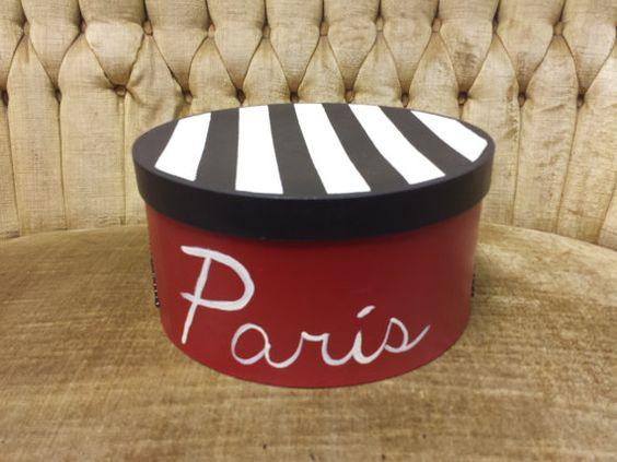 Paris Hat Box with Silk Lining