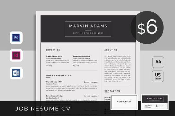 Resume Template CV Professional Resume by BeautifulResumes on Etsy - cv it professional