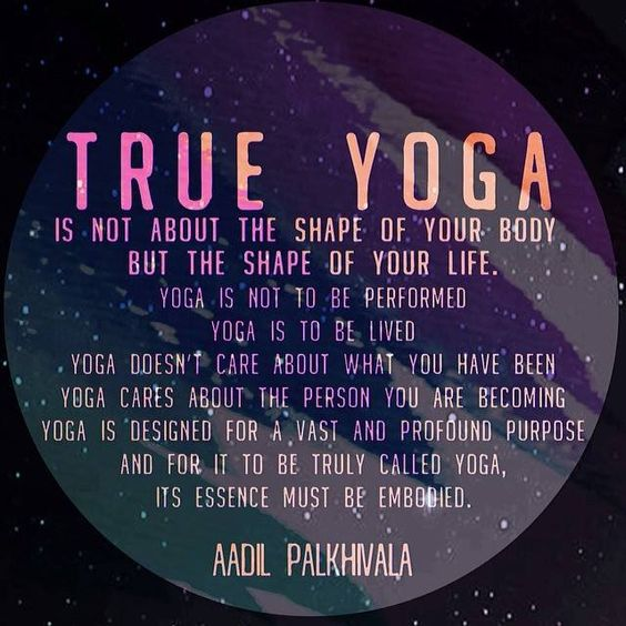 Yoga is to be lived...