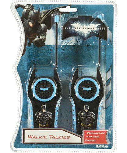 The Dark Knight Rises Walkie Talkies - black/blue, one size $19.99 #topseller