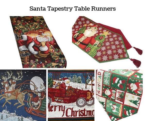 Santa Claus Tapestry Table Runners