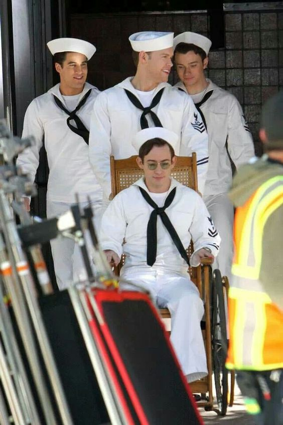 Boys on set #Glee
