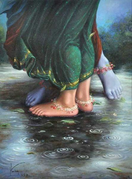 The divine feet!:) Radha and Krishna