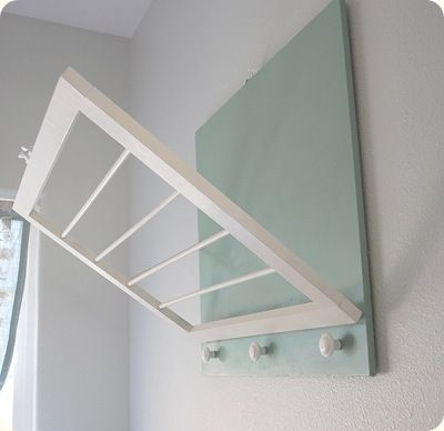 DIY Laundry Room Drying Rack with instructions