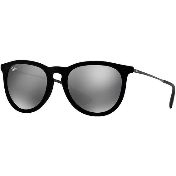 ray ban sunglasses velvet  ray ban erika sunglasses, ? liked on polyvore featuring accessories, eyewear, sunglasses, black, round frame sunglasses, velvet sunglasses, uv protection