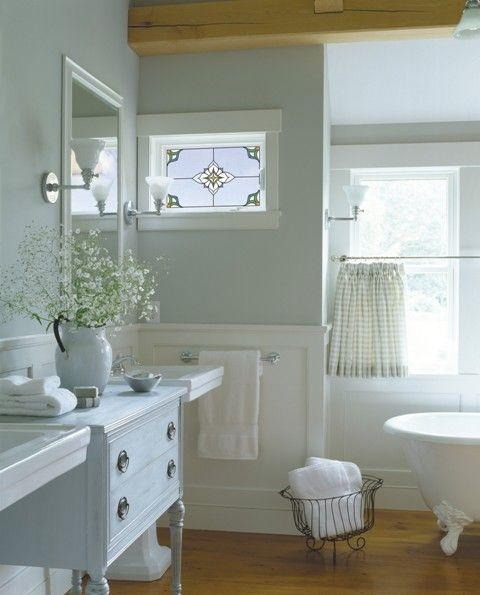 Wainscoting Bathroom: Awesome Bathroom: Wainscoting, Claw-foot Tub, Hardwoods