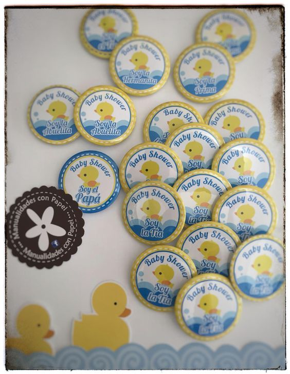 Pines para Baby Shower al agua patito!!!!