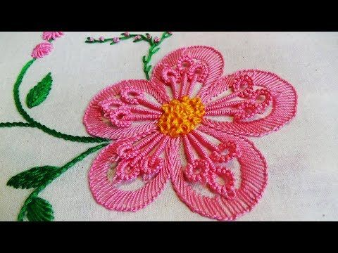 Hand Embroidery Flowers Como Bordar Flores Paso A Paso By