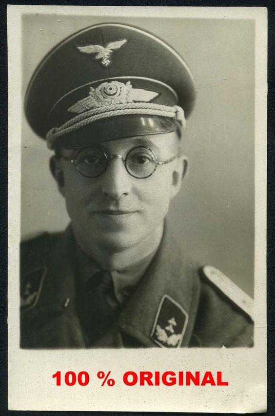 orig. WK2 PORTRAIT FOTO - OFFIZIER LUFTWAFFE Russland 1941 seltene Rankabzeichen