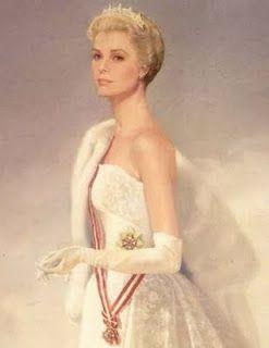 Portrait painted of Princess Grace of Monaco, by Ralph Wolfe Cowan