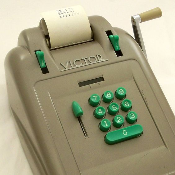 Vintage Mad Men Adding Machine Mid Century Office Equipment Victor
