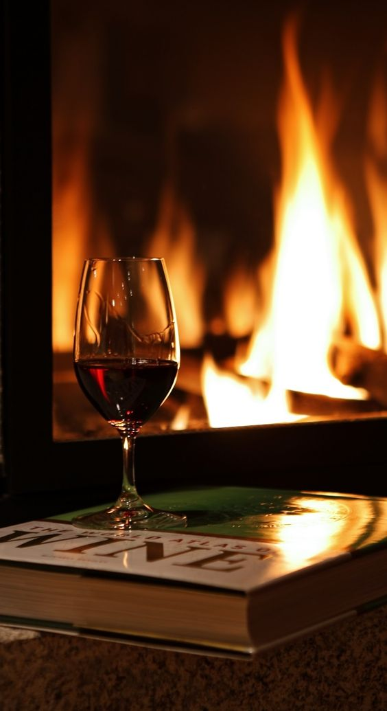 You can't beat a book and a good glass of wine. Of course , if you put a man in the equation..book be damned!!