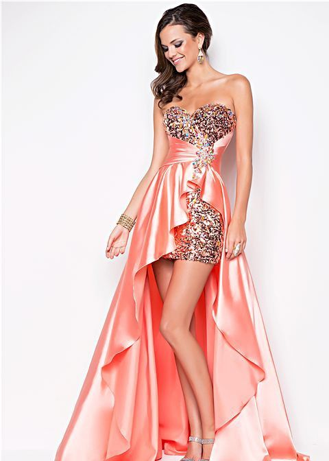 Pink and sparkly prom dress  School Dances  Pinterest  Grey ...