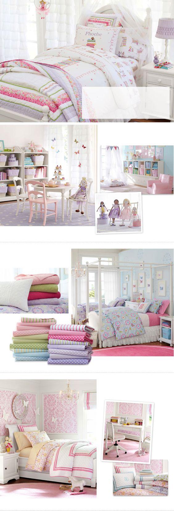 Girls Bedroom Ideas & Girls Room Ideas | Pottery Barn Kids - lovely bedding: