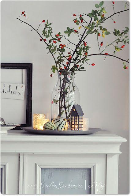 Hagebutten k rbisse easy pinterest herbst einrichten wohnen und liebe - Basteln mit cds geschenkideen deko wohnen ...