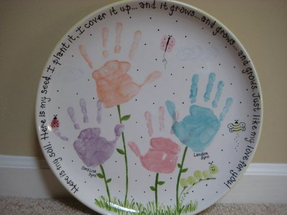 Pottery paint idea with hands.