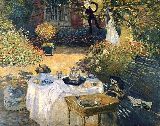 "fravery: "" Claude Monet ""The luncheon"" (1873). """