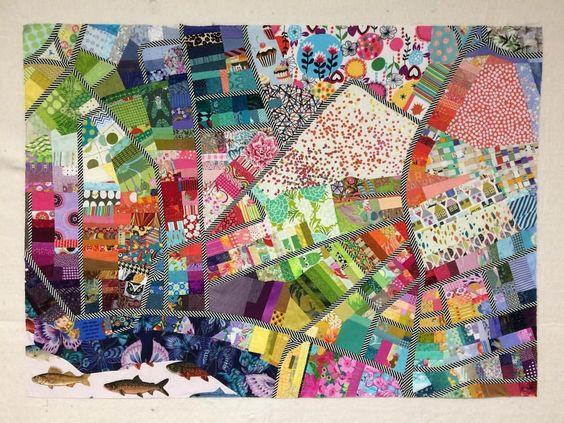 neighborhood map quilt