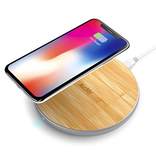 Chargeur Sans Fil Rapide Auckly 10w Qi Pad Bambou Chargeur Sans Fil Avec Aluminium Mat Pour Iphone X 8 Wireless Charging Pad T Mobile Phones Wireless Charger
