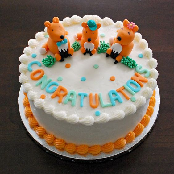 adoption cake fox family by Snacky French