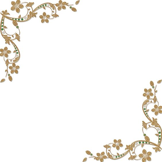 Golden Flowers Png