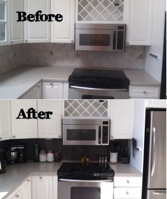 quick kitchen backsplash revamp using peel and stick vinyl