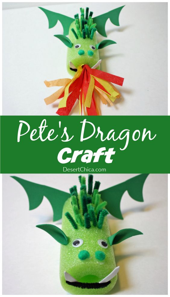 Make your own Elliot with this easy Pete's Dragon craft. Let the kids go crazy and design their own dragon craft with a pool noodle and craft…