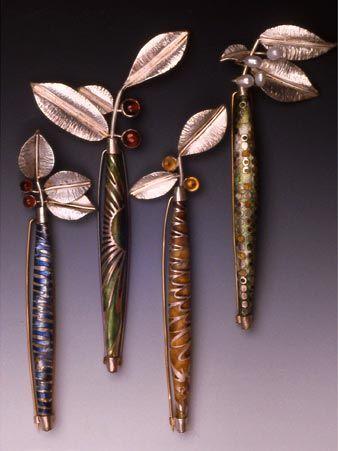 linda darty enamel | garden brooch series by linda darty: