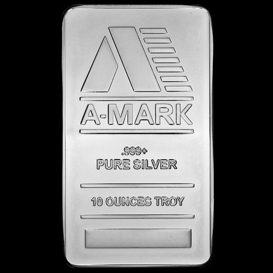 10 Troy Oz A Mark Silver Bar 999 Pure Face Gold Bullion Coins Silver Bars Silver Bullion