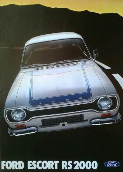Ford Escort RS 2000 brochure 1974
