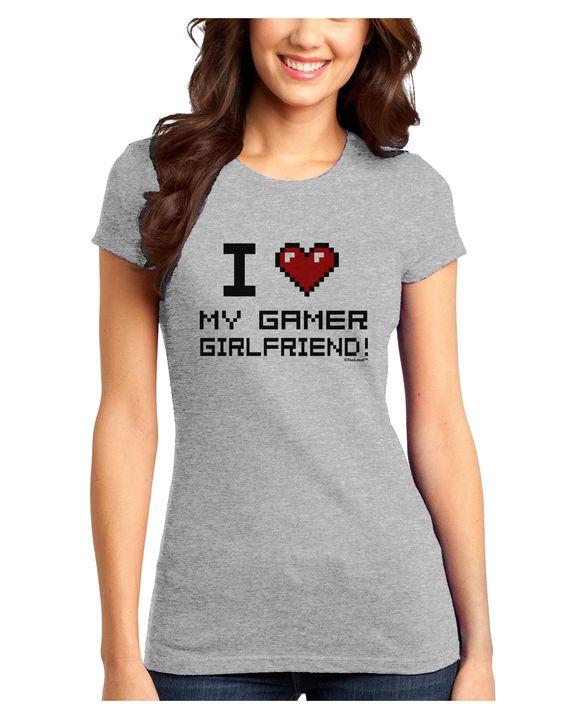 TooLoud I Heart My Gamer Girlfriend Juniors Petite T-Shirt