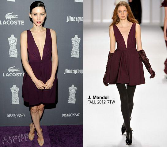 Rooney Mara in Purple