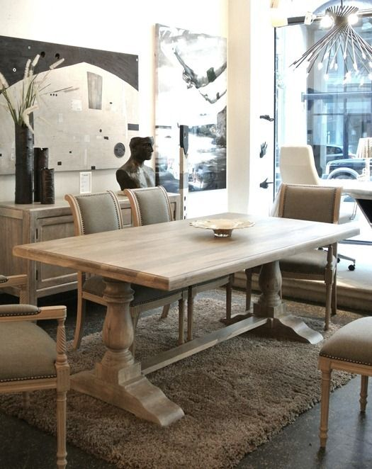 Good Trestle Dining Table Set Part - 14: Trestle Table From Barami Store In Montreal - Love That Store! Dream Trestle  Table | Dining Spaces | Pinterest | Trestle Tables, Restoration Hardware  And ...