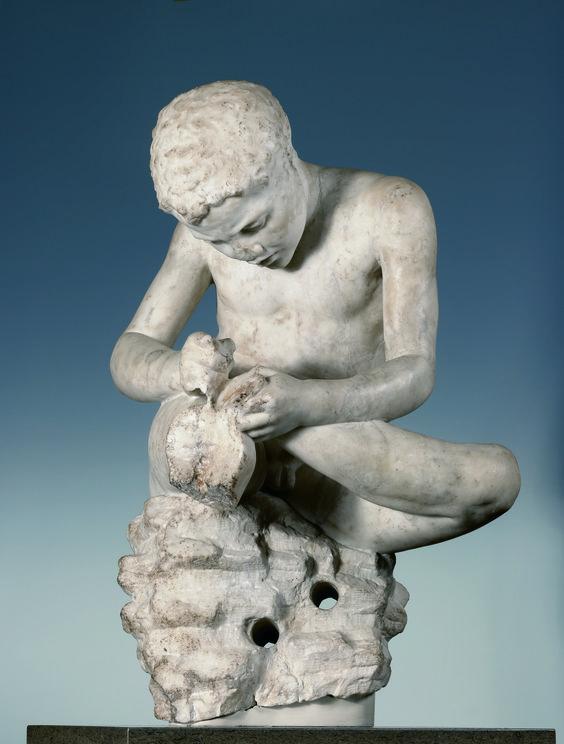 Spinario (Spinario Castellani), c. 25–50 CE, marble, cm 69 x 40,5 x 35. London, The British Museum.