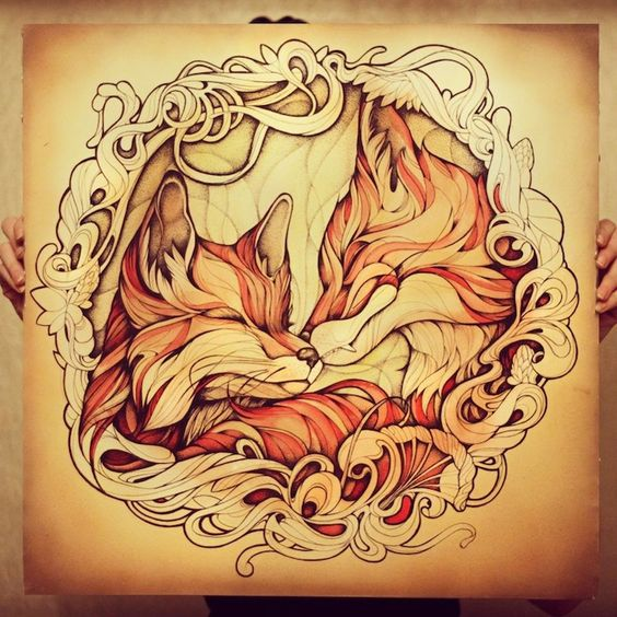 Stunning Red Fox Illustrations Using Watercolors and Ink ...