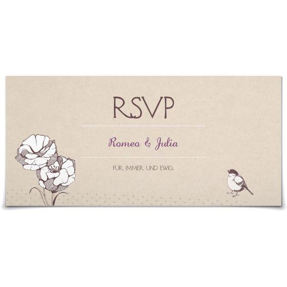 Antwortkarte Ringlein Ringlein in Lavendel - Postkarte lang #Hochzeit #Hochzeitskarten #Antwortkarte #kreativ #vintage https://www.goldbek.de/hochzeit/hochzeitskarten/antwortkarte/antwortkarte-ringlein-ringlein?color=lavendel&design=da4b5&utm_campaign=autoproducts