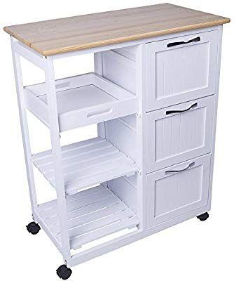 Metall Tisch mit Rädern Küchenwagen Servierwagen Küchenrollwagen Küchentrolley