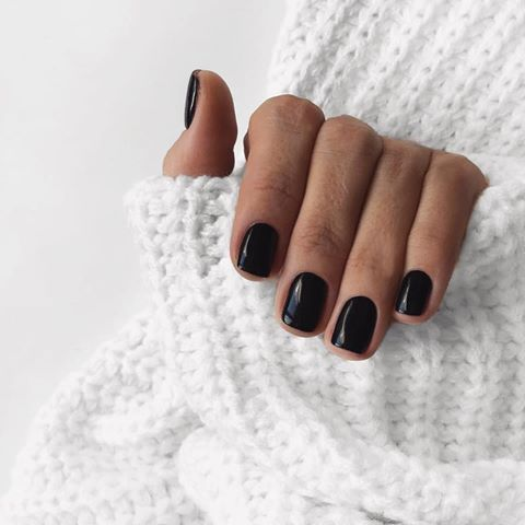 38 Pretty French Nails Nagel Winter And Christmas Nails Art Designs Ideas Black Gel Nails Short Gel Nails Nail Colors Winter