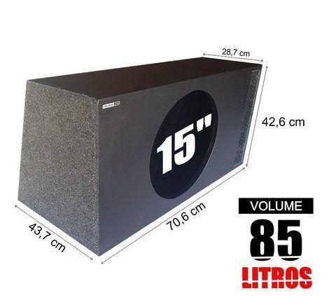 Caixa De Som Dutada 1 X 15 Com 85 Litros Caixa De Som Boxe Caixa